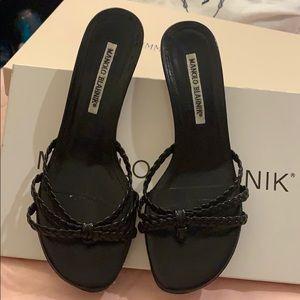 Manolo Blahnik heels.